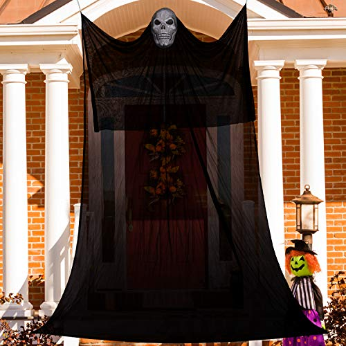 10ft Halloween Decorations Hanging Ghost Props – Scary Skeletons Hanging Ghost Halloween Decorations Outdoors and Indoors – Suitable for Halloween Party Decor, Ghost House, Vampire, Party Bar