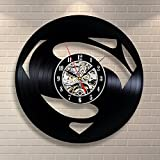 Superman Movie Vinyl Record Clock Home Design Room Art Decor Handmade Vintage