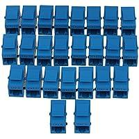 Mxfans 25PCS Cat6 RJ45 Blue Coupler Female Adapter for Keystone Panel