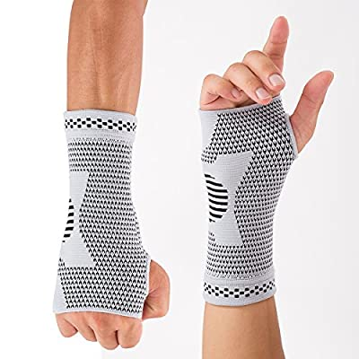 Forwish 1 Pair Wrist Compression Sleeve Hand brace for Carpal Tunnel Tendonitis