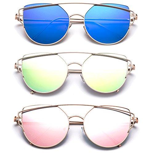 (Samba 2017 Model Trendy Geometric Celebrity Fashion Sunglasses Flash/Mirrored)