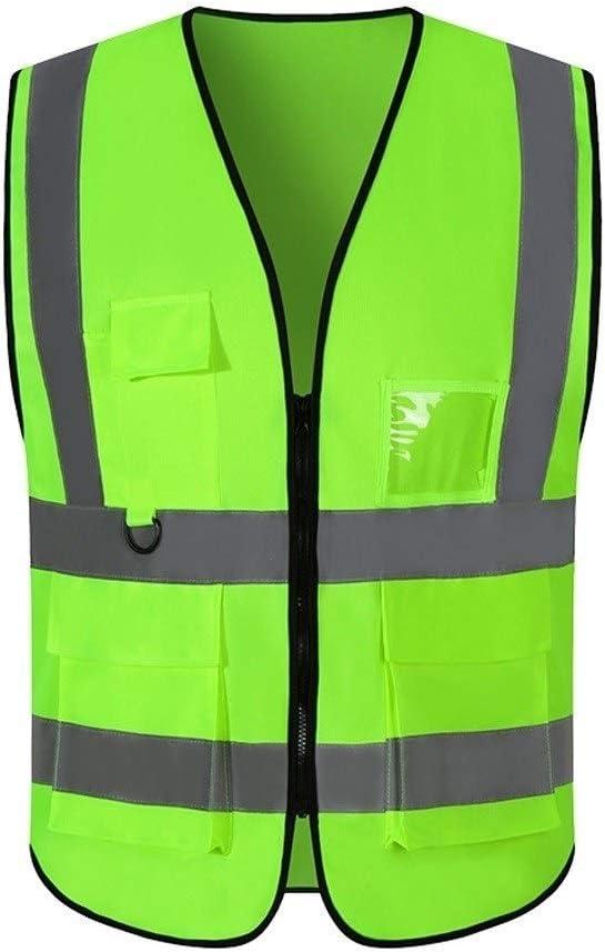 Zipper safety vestReflective Workwear Vest, Lightweight And