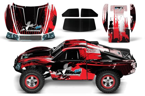 Designer Decal for Traxxas Slash 1/10 (#58034) and Slayer 1/10 (#59074) AMRRACING RC Kit - Carbon X - Black/Red