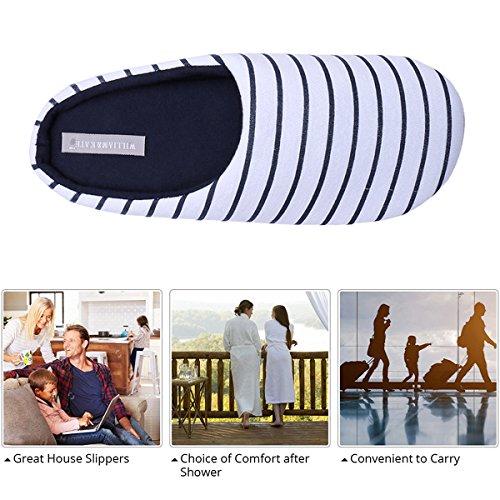 William & Kate Femmes Pantoufles De Coton Style Japonais Pantoufle Confortable Anti-dérapant Pantoufles Hiver Couple Décontracté Pantoufles Fond Mou Intérieur Pantoufles Blanc