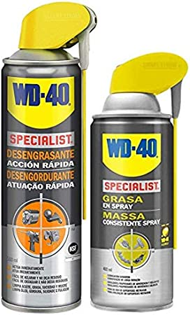 Wd 40 - Wd-40 Specialist Lote Limpieza & Lubricado - Specialist Desengrasante 500Ml + Specialist Grasa En Spray 400Ml - Pack 2 Unidades: Amazon.es: Bricolaje y herramientas