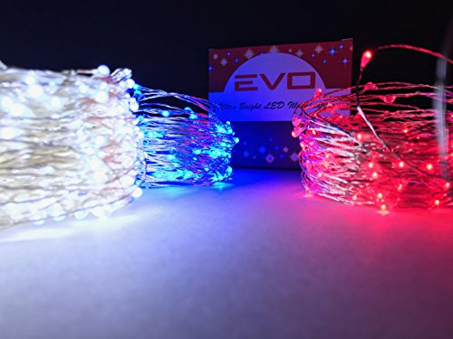 cincy illumination led waterproof fairy string light 100 feet redwhite blue - Red And White Led Christmas Lights