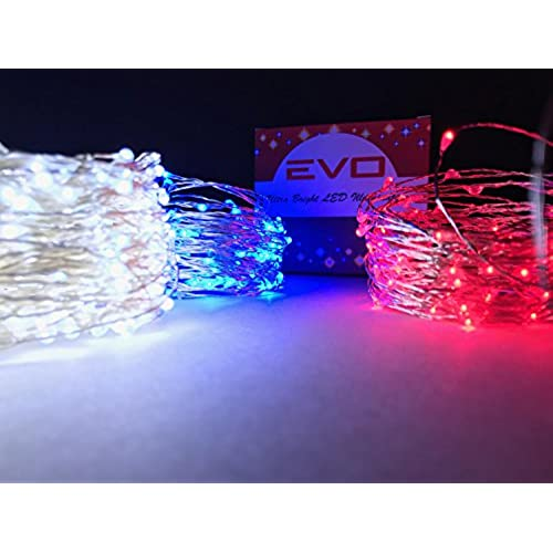 cincy illumination led waterproof fairy string light 100 feet redwhite blue