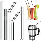 JOUNY Set of 8 Stainless Steel Straws for 30oz 20oz Tumblers Cups Mugs RTIC & Yeti Tumblers Rambler and more, Drinking Metal Straw