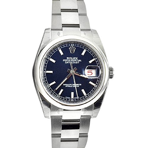 Rolex Datejust 36 Blue Index Dial Steel Mens Watch 116200