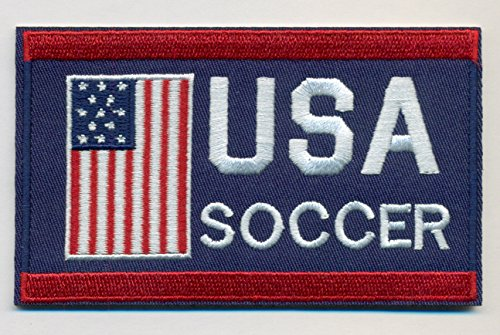 Soccer Team USA Embroidered Iron-On Patch Size 4