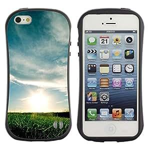 Suave TPU GEL Carcasa Funda Silicona Blando Estuche Caso de protección (para) Apple Iphone 5 / 5S / CECELL Phone case / / Nature Beautiful Forrest Green 69 /