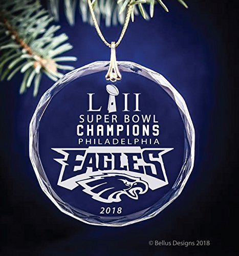 (Philadelphia Eagles Super Bowl LII Champions 2018 Football Themed Keepsake Christmas Circle Ornament)