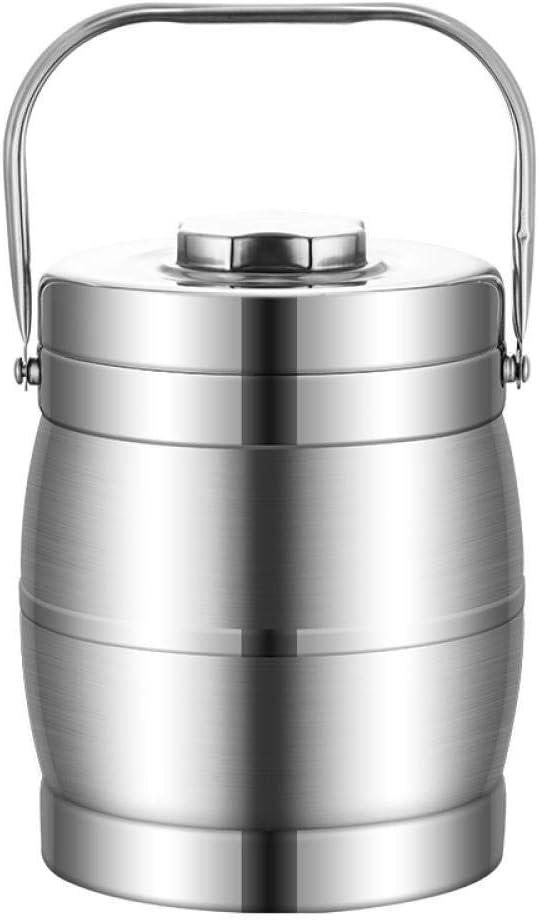スープフード、3.5Lを取るために大きいステンレス鋼のお弁当箱の二重層の真空の熱食糧容器のバケツ