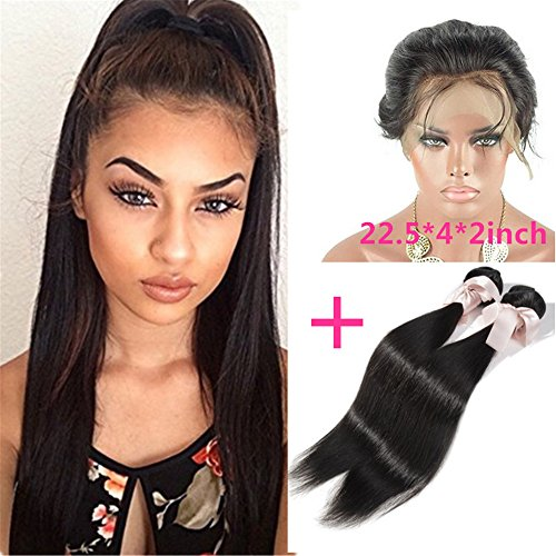 Halo Lady 2 Hair Bundles with Closure 100% Unprocessed Human