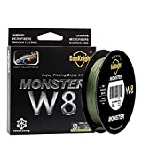NaJi Braided Lines 8 Strands Weaves 328Yards/547Yards Super Smooth PE Braided Multifilament Fishing Lines for Sea Fishing 15-100LB