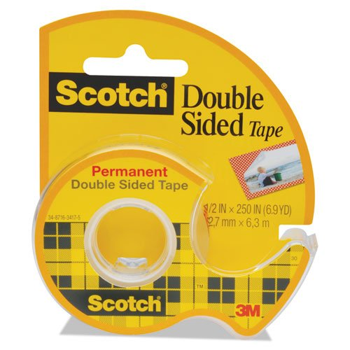 (Scotch Products - Scotch - 665 Double-Sided Office Tape w/Hand Dispenser, 1/2