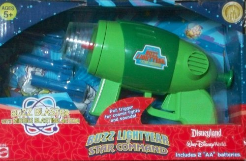 Toy Story Buzz Lightyear of Star Command Blaster with Cosmic Electronic Lights & Sounds FX! Shoots Foam Darts