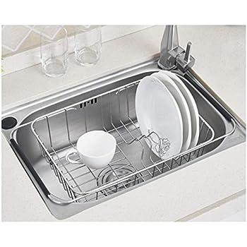Amazon Com Sink Dish Drying Rack Stainless Steel Dish
