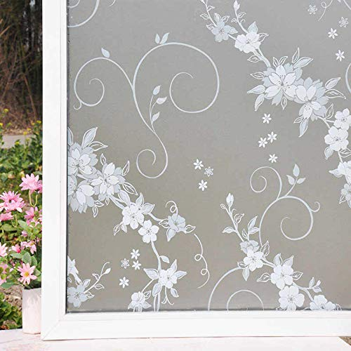 2M Bathroom Window Door Home Privacy Waterproof Frosted Glass Film Sticker Cover