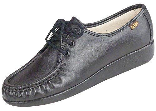 SAS Women's Siesta lace up comfort shoe, Black,7.5WW - Sas Comfort Shoes