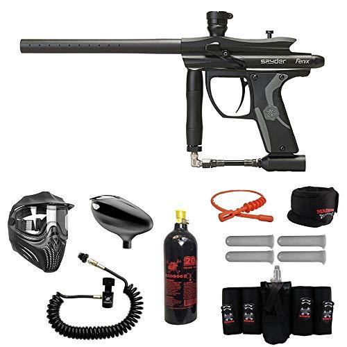 MAddog Spyder Fenix Elite Remote CO2 Paintball Gun Package - - Mask Paintball Thermal Elite