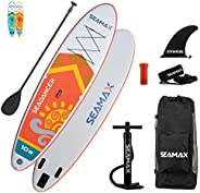 """Seamax 10.8ft SeaDancer Inflatable SUP, 15PSI with Hot Welded Seam, Dimensions L10'8ft x W32"""" x T6"""" and 20"""