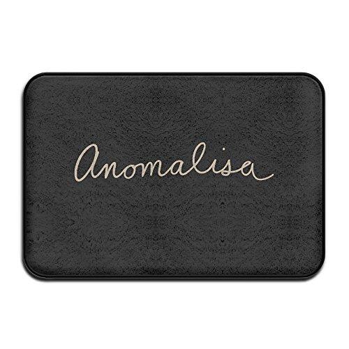 Anomalisa Logo Doormat Outdoor Fashion Door Mats Outdoor Area Rugs Non-slip Door Mat Dog Mat Backing Doormat Rugs For Home --Coral Velvet And Memory Foam