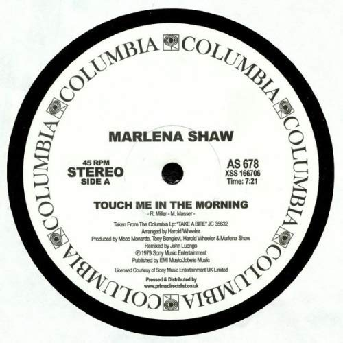 Touch Me In The Morning / Shaw Biz / Suddenly It'S How I Like To Feel (Touch Me In The Morning Marlena Shaw)
