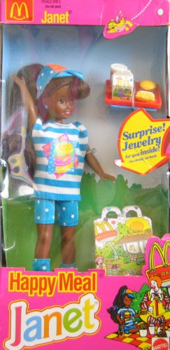 Barbie McDonald's Happy Meal JANET Doll AA w Surprise Jewelry (1993)