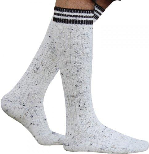 Lange Trachtensocken Strümpfe Socken aus Wolle Meliert, Größe:43-46