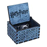 NELnissa Blue Harry Potter Music Box Engraved Wooden Music Box Crafts Toys Xmas Gift