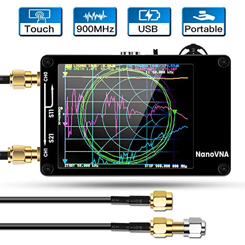 Vector Network Analyzer, Elikliv Mini HF VHF UHF Antenna Analyzer with 50KHz-900MHz 2.8 Inch Digital LCD Display Touching Screen Standing Wave Measuring Instrument