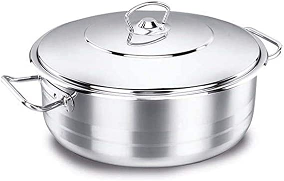 وعاء طهي أسترا منخفضة، فضي من كوركماز سعة 4.5 لتر – (A1907)