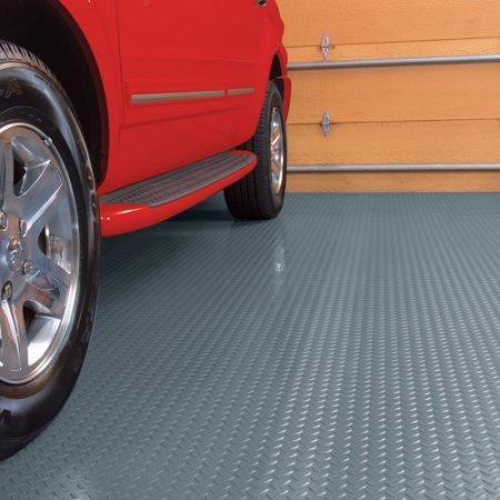 Garage Floor Cover/Protector, 7.5' x 17', Diamond Tread - Gray by G-Floor