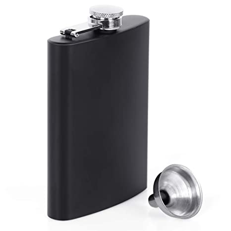 Flasks for Liquor for Men, Stainless Steel Flasks For Liquor, Hip Flasks Leak Proof Tested Pocket Flask Black 8 oz Durable Construction Flask and ...