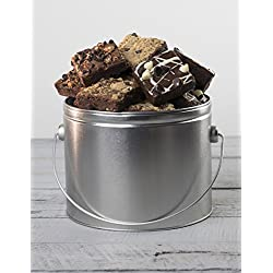 Chocolate Brownie Bucket - Half Gallon Tin Gourmet Gift from Stew Leonard's Gifts
