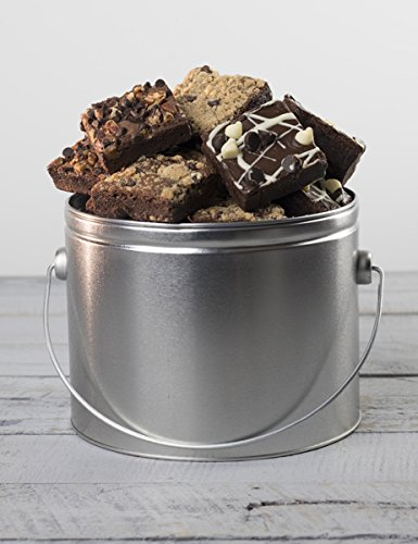 Chocolate Brownie Bucket - Half Gallon Tin Gourmet Gift from Stew Leonard