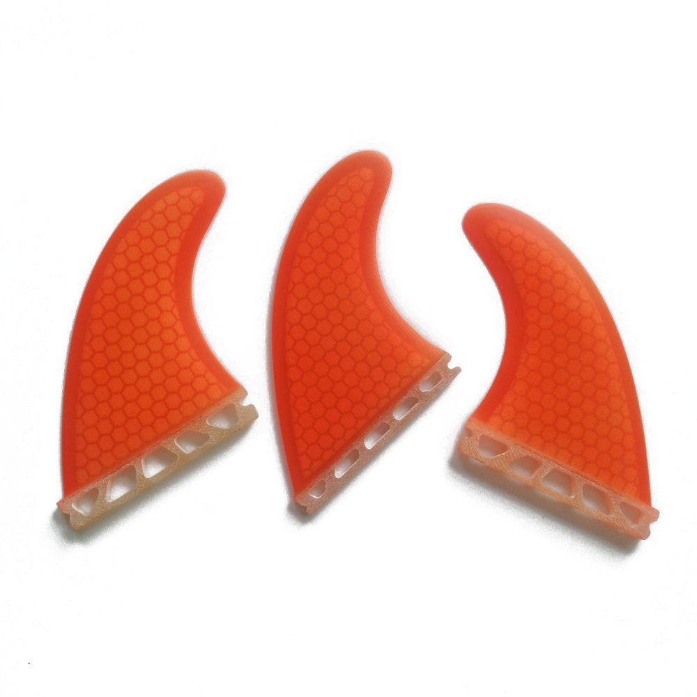 UPSURF Surfboard Fin Future Fiberglass Honeycomb Tri Surfing Fin G5 Thruster Set