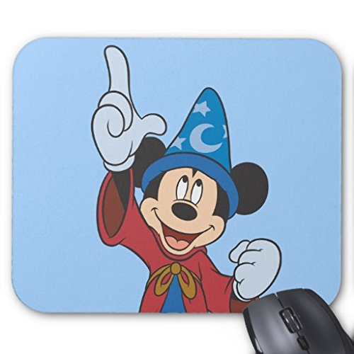 Price comparison product image Poem Magine Sorcerer Mickey Rectangle Non-Skip Rubber Mouse Pad 220mm x 180mm x 3mm