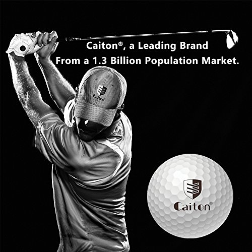 Caiton Golf Balls Practice, Practice Balls Soft Foam with Indoor Golf Tee Yellow One Dozen by Caiton (Image #1)