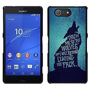 iBinBang / Funda Carcasa Cover Skin Case - Le pack Héroïque Brave texte - Sony Xperia Z3 Compact