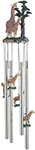 StealStreet SS-G-41016, Wind Chime Round Top Giraffe with Baby Garden Decoration Windchime