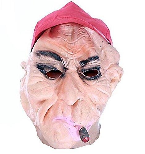 HLLWN Expresss, Smoking Grandpa, Halloween Masquerade Latex Mask 2014 HLWMSK76