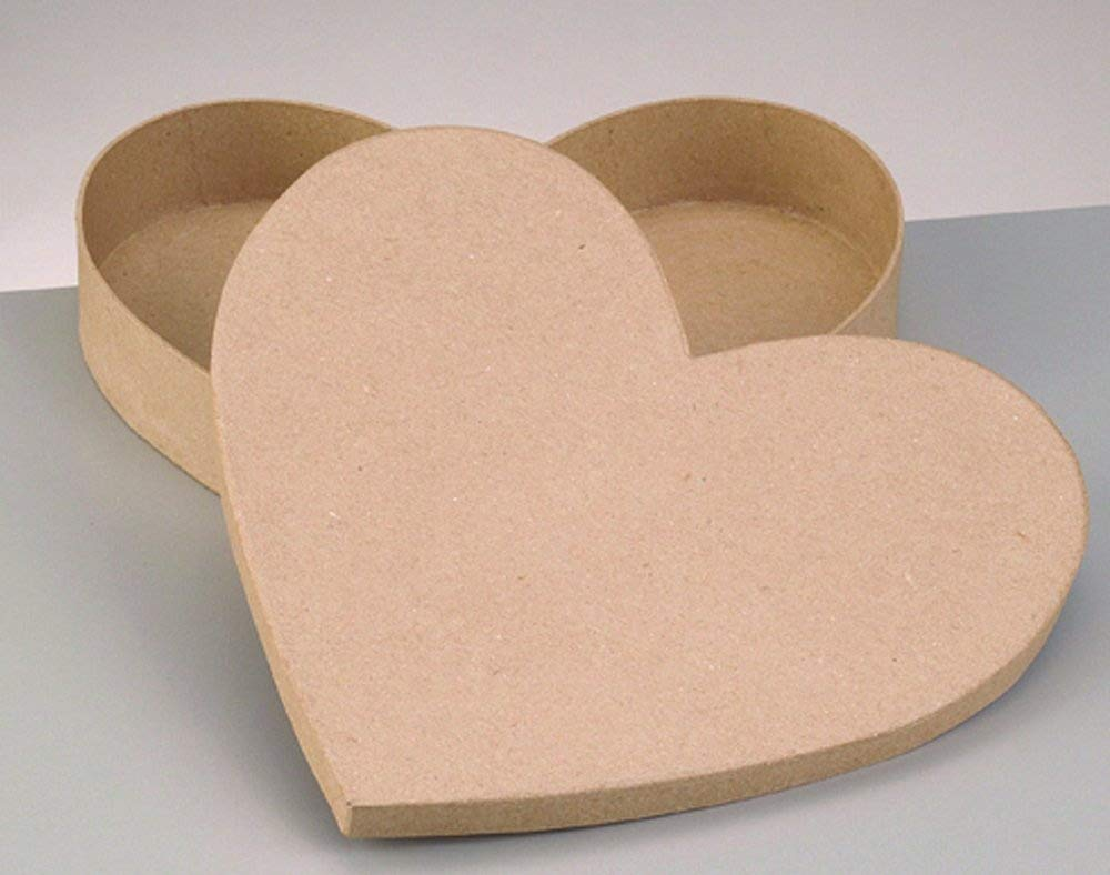 Jumbo Paper Mache Heart Shaped Box for Crafts | Papier Mache Boxes Crafty Capers
