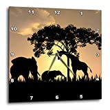 3dRose LLC African Safari Silhouette 10 by 10-Inch Wall Clock Review