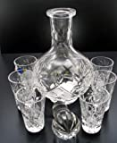 Cheap Vodka Set Russian Cut Crystal 12 Oz Carafe Decanter & 6 Crystal Shot Glasses 35 Ml 1.2 Oz