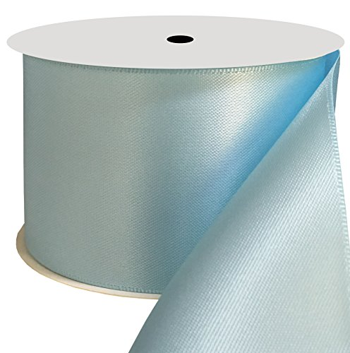 Duoqu 2 inch Wide Double Face Satin Ribbon 10 Yards Light Blue