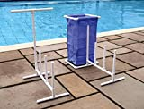 HydroTools Swimming Pool Mesh Bag Poolside Toy Organizer with Towel Hanger