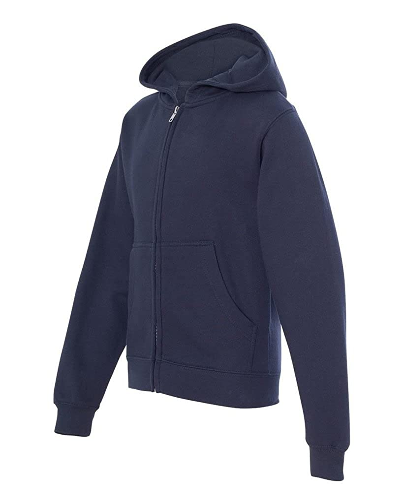 Independent Trading Co. - Boys Youth Midweight Full Zip Hooded Sweatshirt
