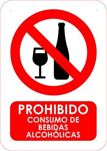 Oedim Pack 10 Señales PVC Prohibido Consumo de Bebidas Alcoholicas | Tamaño A5 (14,80x21cm) Material PVC Resistente: Amazon.es: Hogar